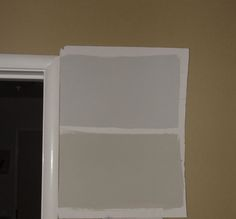 Samples of Benjamin Moore's Revere Pewter [bottom] and Stonington Gray [top] Neutral Gray Paint, Beige Wall Colors, Best Gray Paint Color, Room Paint Colors, Paint Colors For Living Room, Paint Colors For Home, Beige And Grey Living Room, Grey And Beige, Grey Painted Walls