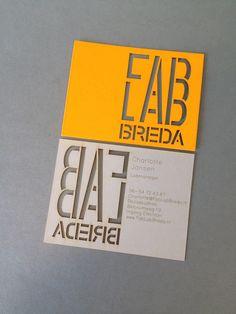 Lasercut businesscard