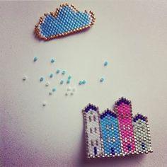 Des perles de pluie ☁ #perles #miyuki #miyukidelicas #jenfiledesperlesetjassume…