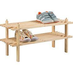 Buy Simple Value 2 Shelf Shoe Storage Rack - Solid Pine at Argos.co.uk, visit Argos.co.uk to shop online for Shoe storage