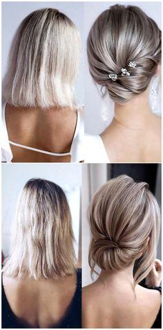 Medium Hair Styles, Curly Hair Styles, Short Hair Wedding Styles, Wedding Hair For Short Hair, Wedding Hairstyles For Short Hair, Hairstyle Wedding, Upstyles For Short Hair, Hair Upstyles, Short Hair For Brides