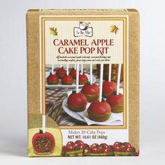 One of my favorite discoveries at WorldMarket.com: Caramel Apple Cake Pop Kit