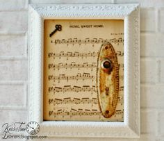 When you're prone to being a KLUTZ...you've gotta find ways to salvage what you've broke!  Mixed Media Photo frames ~ via KnickofTimeInteriors.blogspot.com