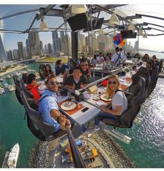 Dinner in the sky in Dubai Would you dine here? Dinner in the sky in Dubai Would you dine here? Luxury Boat, Luxury Travel, Dubai Travel, Vacations To Go, Vacation Trips, Vacation Ideas, Places To Travel, Travel Destinations, Places To Visit