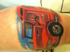 Tattoo tribute to my husband who recently passed, he was a truck driver for Swift and both of us were going to be driving together this summer, but we never got the chance too.