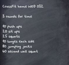 CrossFit home WOD - Perfect İdeas For Doing Exercise Fitness Workouts, Wod Workout, Travel Workout, Fitness Tips, Health Fitness, Workout Board, Quick Workouts, Fitness Classes, Fitness Studio