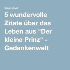 """5 wundervolle Zitate über das Leben aus """"Der kleine Prinz"""" - Gedankenwelt"""