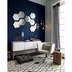 set of 3 swarm mirrors in mirrors | CB2 - $179 (less 15% is $152.15) - to use as your hallway art
