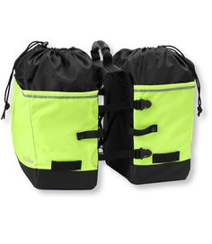 Grocery panniers sold by LLBean to attach to your bike. $69.95 and also available in black