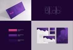 Visual identity for Blob Media Btob, Visual Identity, Pantone, Branding, Social Media, Behance, Gallery, Brand Management, Corporate Design
