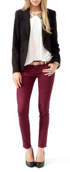 bigchipz.com burgundy skinny jeans (12) #skinnyjeans