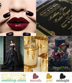 Marsala | 2015 Pantone Color of the Year - Fall Inspiration - Marsala, Gold and Midnight