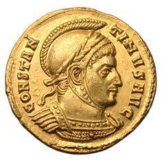 La moneta introdotta dall'imperatore Costantino