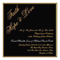 Black Gold Popular Wedding Invitation