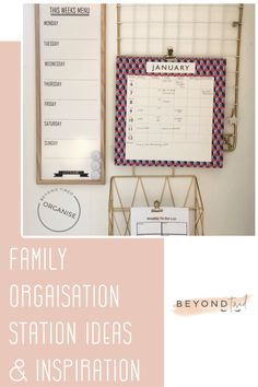 There are just so many brilliant ways to keep the family organised and so I thought I'd share our Family Organisation Station along with some of the fabulous ones I'm lusting over in case anyone is need of some ideas and inspiration for your own.