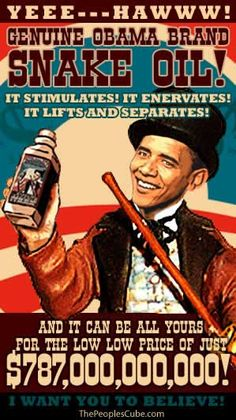snake oil your grandchildren and ggrandchildren will still be paying for