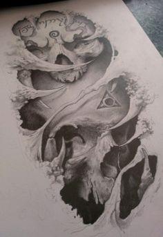 2 skulls by AndreySkull