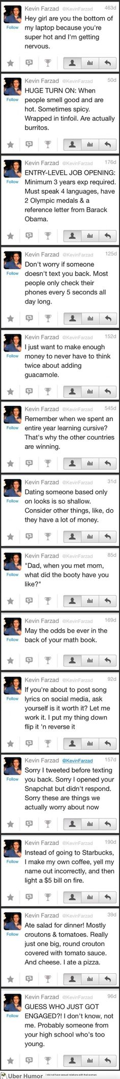 I don't know Kevin Farzad, but I definitely want to