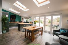 4 bedroom semi-detached house for sale in Woodlands Drive, Chester - Rightmove. Kitchen Extension Floor Plan, 1930s House Extension, House Extension Plans, House Extension Design, Extension Ideas, Conservatory Extension, Conservatory Ideas, Rear Extension, Open Plan Kitchen Dining Living