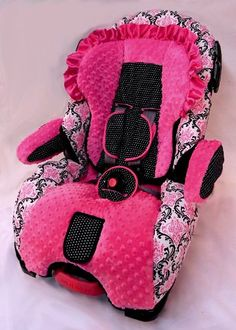 This lady actually makes these covers for car seats, boosters, etc/ Gorgeous!