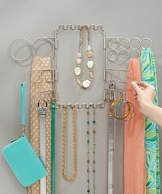 Look at this Satin Classico Wall Mount Accessory Organizer on #zulily today!