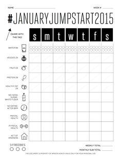 Staying on Track + #JanuaryJumpStart2015 Printable
