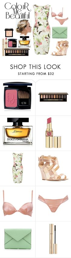 """""""Untitled #817"""" by miss-meghan-elizabeth ❤ liked on Polyvore featuring Christian Dior, Clarins, Dolce&Gabbana, Yves Saint Laurent, Phase Eight, Giuseppe Zanotti, La Perla, Rebecca Minkoff and Givenchy"""