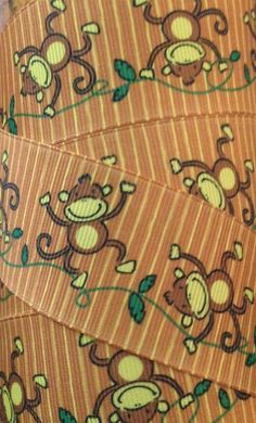 1 1/2 Inch Grosgrain Ribbon - Printed Grosgrain Ribbon - Monkey Ribbon - Ribbon By The Yard - Ribbon Supplies - Animal Ribbon - Jungle Ribbon  Use this ribbon to make your own hair bows. Can also be used for scrapbooks and to add flair to a million different craft projects! so darling Monkey Ribbon  White 1 1/2 Inch grosgrain ribbon with adorable monkeys all over, this is a great quality ribbon! This ribbon is solid white on one side and design printed on the other.  There are sever...