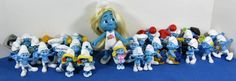 Large Lot 2011 & 2013 Peyo Smurf Figures McDonald's Happy Meal Toys + Smurfette #Peyo