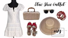 white summer dress, summer outfit