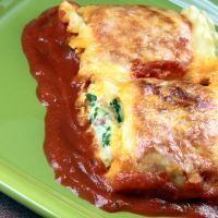 Meatless Lasagna Roll Ups
