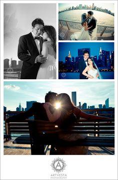 Wedding photography by Tatiana Valerie, Artvesta Studio. Post-wedding photo shoot in Long Island City, New York. #NYC Wedding Photography #creative #photography