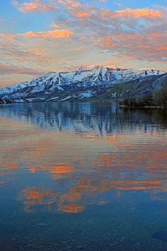 First light on Mount Timpanogos, Utah