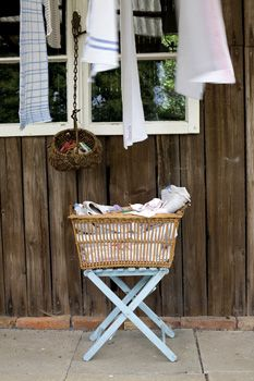 rustic...useful...laundry baskets...