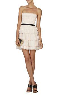 Rayna Strapless Pleated Dress