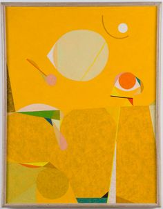 Frederick Hammersley Yellow place, 1957, oil on linen, 36 x 22 inches