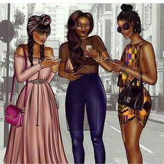 Is It Too Early To Predict Peniel Enchill As Fashion Illustrator Of The Year 16 Black Love Art, Black Girl Art, Black Girls Rock, Beautiful Black Women, Black Girl Magic, Black Art Pictures, Mode Jeans, Black Artwork, Afro Art