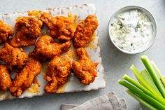 This buffalo wings recipe is extra crispy, thanks to double-frying - The Washington Post Ranch Dressing Chicken, Buffalo Wings, Cooking Time, Cooking Recipes, Pan Sizes, Tandoori Chicken, Turkey Recipes, Dinner Recipes, Air Fryer Recipes