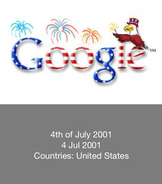 4th of July - USA - Google Doodle