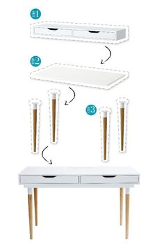 Put your DIY skills to the test with this simple and stylish IKEA furniture … – Ikea Hacks – Ikea Hacks Refurbished Furniture, Ikea Furniture, Furniture Makeover, Modern Furniture, Furniture Design, Furniture Ideas, Pallet Furniture, Furniture Vanity, Simple Furniture