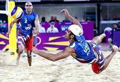 Both the men's and women's US beach volleyball teams are kicking butt in the Olympics so far - Todd Rogers, Phil Dalhausser