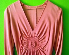 Coral Pink Vintage 30s/40s Crepe Rayon by MillerAndCampbell, $98.00