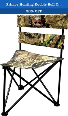 """Primos Hunting Double Bull Qs3 Magnum Ground Swat Camo Chair. When you spend as much time in our ground blinds as we do, you eventually create the """"best seat in the house"""" instead of trying to """"make do"""" with some chair from a discount store. Standard chairs are apt to cut off blood flow on the back of your legs, leading to discomfort and cold feet. They also restrict mobility and don't allow the range of motion that our QS3 Tri-Stool provides. Of course, we designed this tri-stool at the..."""