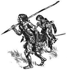 Mamutik na lovu. Krasna perokresba.Pouze lze pochybovat jestli by nekdo na lov lisek vzal si ostep na mamuty.Ajeho drzeni takhle by bylo krajne nepohodlne, protoze by prepadaval dozadu.Vse ale pusobi prirozene i s nesmysly. Lov, Prehistoric, Wallpaper, Human Evolution, Literatura, Men, Wallpapers, Prehistoric Age, Prehistory