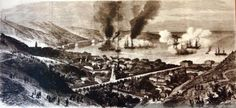 Bombardeo de Valparaíso. Guerra contra España, 31 de marzo de 1866 Paris Skyline, Painting, Google, War, Museums, Cities, Photos, Bicycle Kick, Historia