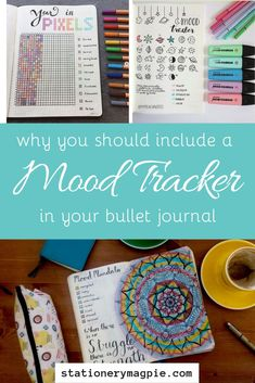 There are loads of ways that you can use your bullet journal for mindfulness and self care, one of those ways is by creating a mood tracker!
