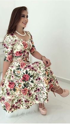 "sissy-sex-life: ""forced sissy humiliation captions, weak boy feminization turn into cumslut "" Trend Fashion, Floral Fashion, Modest Fashion, Fashion Dresses, Lovely Dresses, Beautiful Outfits, Vintage Dresses, Gorgeous Dress, Dress Outfits"