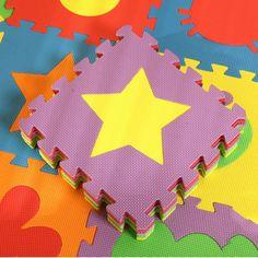 6pcs per set Baby Carpet EVA Foam Mat For Infant  Puzzle Dolls Pattern Soft Floor Carpet Indoor Decor Mat Puzzle Split Mat