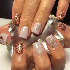 Rose Gold | Tribal Nail Decals | Aztec Nails | Aztec Nail Art | Tribal Nails | Rose Gold Nails | Tribal Nail Art | Nails | Nail Art | Nail Decals