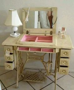 Convert old singer sewing machine.